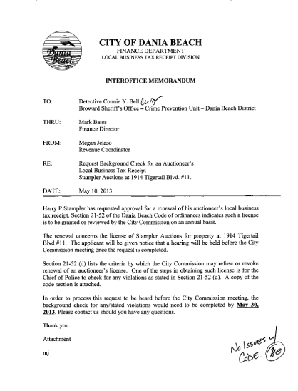 37364719-city-of-dania-beach-finance-department-local-business-tax-receipt-division-interoffice-memorandum-to-yettp4-detective-connie-y