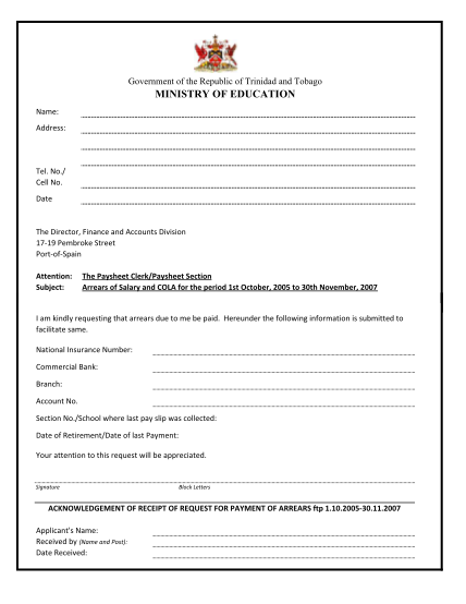 38132971-fillable-ministry-of-education-trinidd-arrears-form
