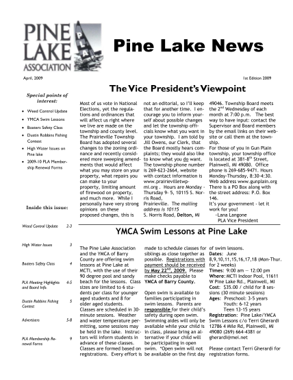 386313315-april-2009-newsletter-2-pine-lake-pinelk