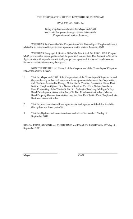 38955716-fire-protection-service-agreement-township-of-chapleau-fcm-fcm