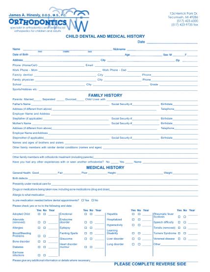 389970026-child_formpdf-child-health-history-form-hinesly-orthodontics