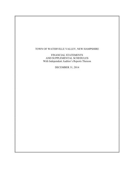 392644498-2014-financial-report-town-of-waterville-valley-watervillevalley