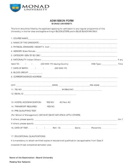 397302832-admission-form-monad-university