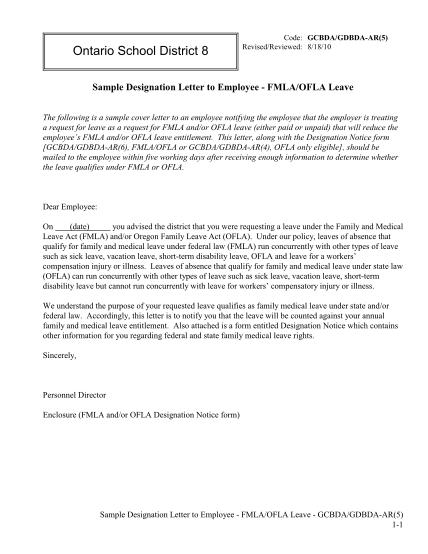 400438253-gcbdagdbda-ar5-sample-designation-letter-to-employee-fmlaofl-ontario-board-policy