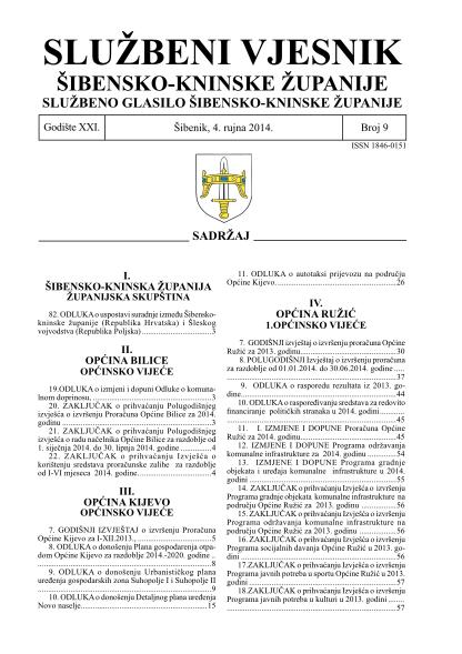 406446640-odluka-o-uspostavi-suradnje-izmeu-ibenskokninske-upanije-republika-hrvatska-i-leskog-vojvodstva-republika-poljska-sibensko-kninska-zupanija