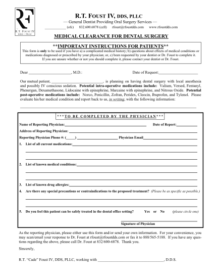 409255423-medical-clearance-form-111011-pdf-foust_2pdf-foust-iv-dds-pllc