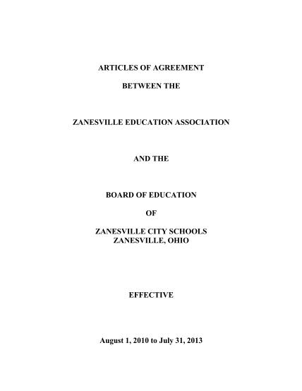 412973985-articles-of-agreement-zanesville-education-association-zanesvilleea-ohea