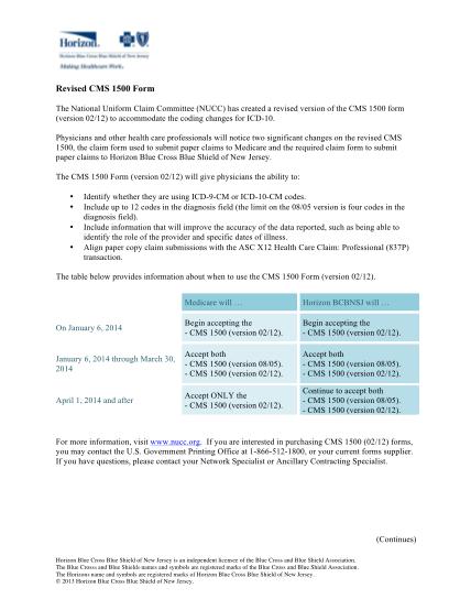 41767268-delay_icd-10revisedcms1500form_april2014_v2pdf-cms-1500-claim-form-horizon-blue-cross-blue-shield-of-new