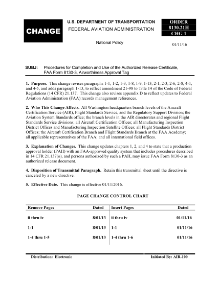 451123304-faa-order-81302h-procedures-for-completion-and-use-of-the-authorized-release-certificate-faa-form-8130-3-airworthiness-approval-tag-procedures-for-completion-and-use-of-the-authorized-release-certificate-faa-form-8130-3-airworthiness