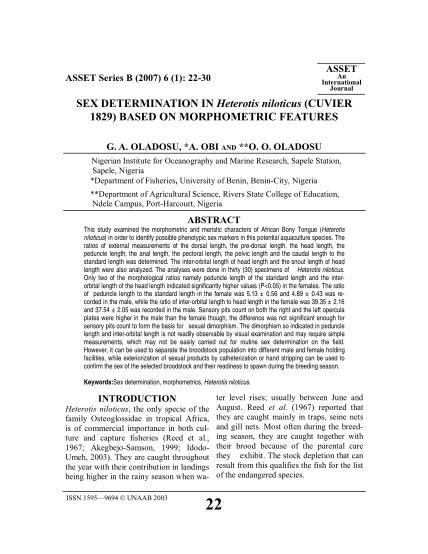 451612794-asset-an-international-journal-asset-series-b-2007-6-1-2230-sex-determination-in-heterotis-niloticus-cuvier-1829-based-on-morphometric-features-g-journal-unaab-edu