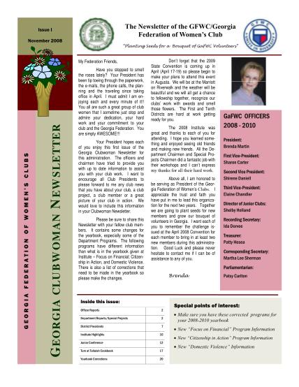45657473-november-2008-newsletter-template-georgia-federation-of-gafwc