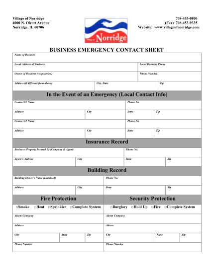 460174771-business-emergency-contact-sheet-in-village-of-norridge