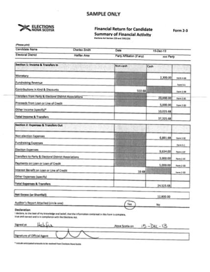 47598061-candidateamp39s-sample-financial-report-elections-nova-scotia