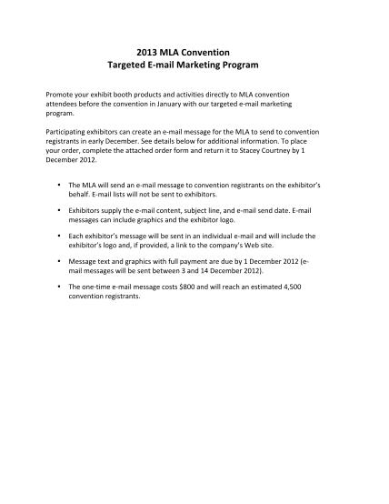 47844707-2013-mla-convention-targeted-e-mail-marketing-program-mla