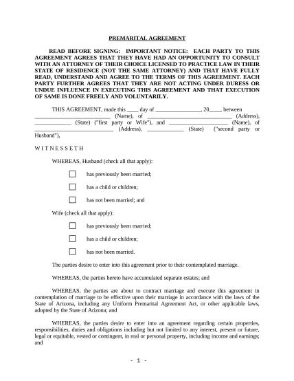 497296865-arizona-prenuptial-premarital-agreement-with-financial-statements-arizona