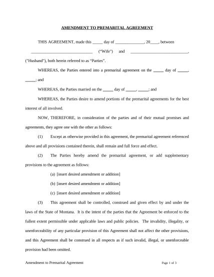 497316064-amendment-to-prenuptial-or-premarital-agreement-montana