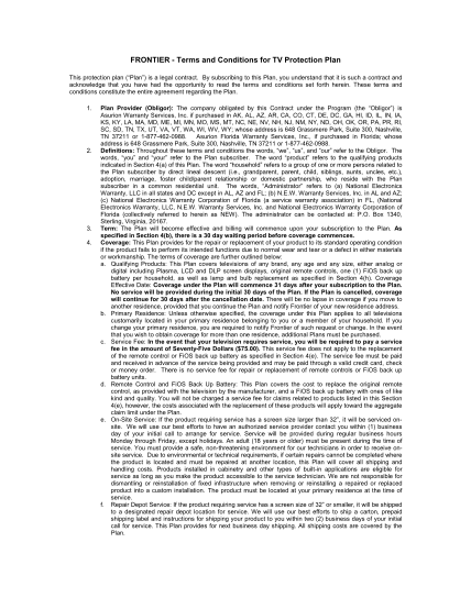 62805169-sample-terms-and-conditions-for-tv-protection-plan-frontier