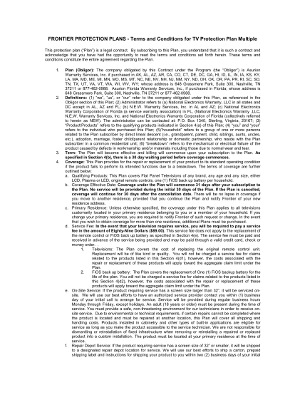 62806215-frontier-protection-plans-terms-and-conditions-for-tv-protection-plan-multiple