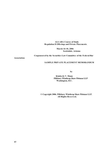 68265632-sample-private-placement-memorandum-ali-cle