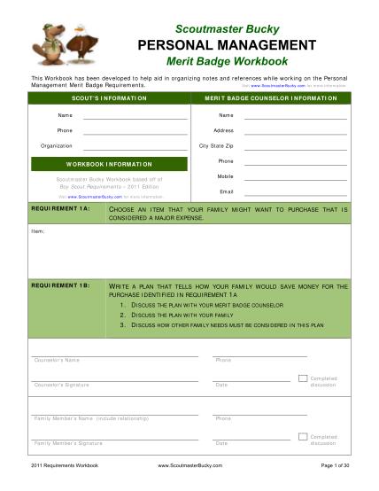 69366748-fillable-personal-management-merit-badge-fillable-worksheet-form