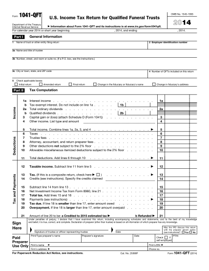 6962085-fillable-2014-1041-qft-form-irs