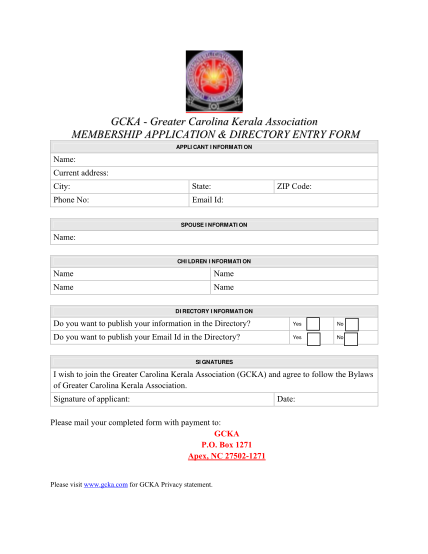 7138619-gcka20direct-ory20entry2-520form_09_10-gcka-entry-form--greater-carolina-kerala-association-other-forms