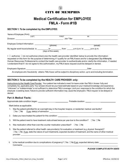 71587447-medical-certification-for-employee-fmla-form-1b-memphistn
