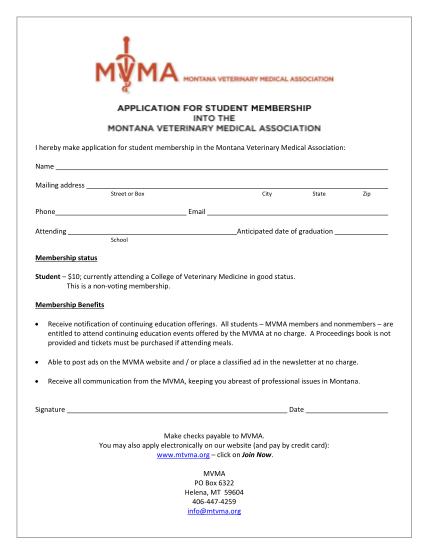 77046505-application-for-membership-montana-veterinary-medical-mtvma