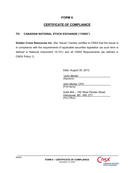 79295320-gox-form-6-certificate-of-compliancedoc