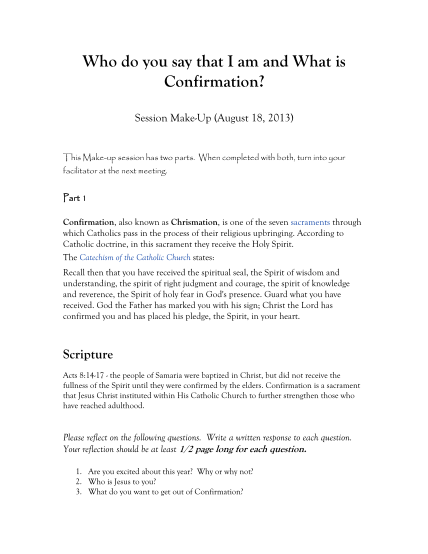 88246793-who-do-you-say-that-i-am-and-what-is-confirmation-skconfirmation