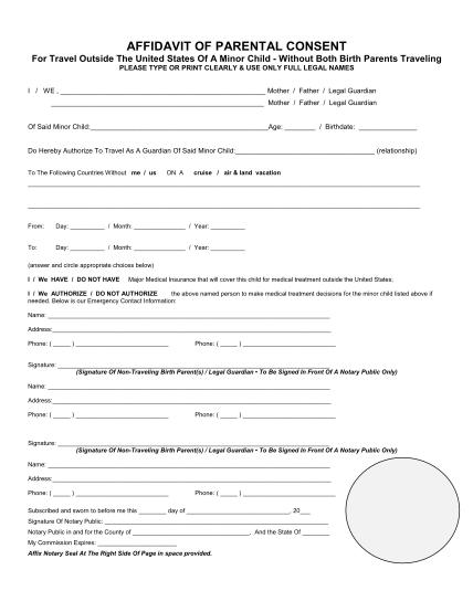 affidavit-of-parental-consent-form