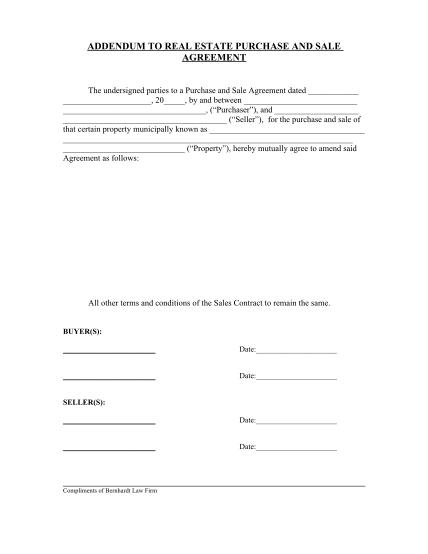 agreement-addendum-template