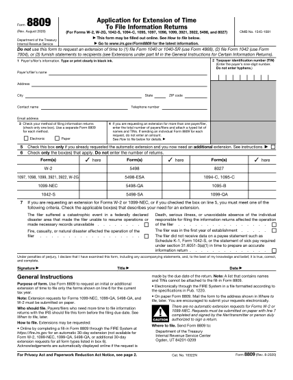 form-8809