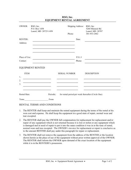form-equipment-rental-agreement