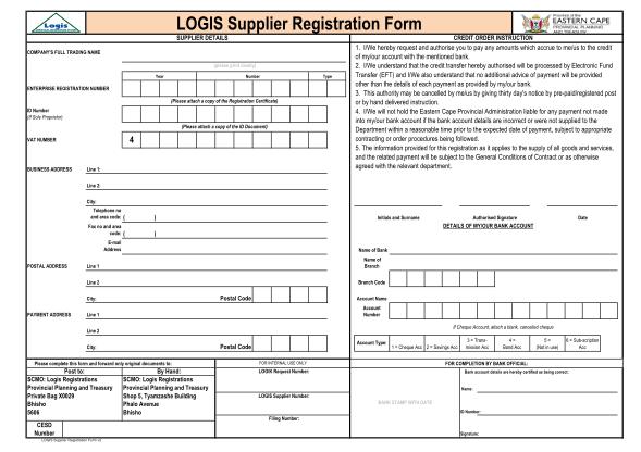 logis-form-eastern-cape