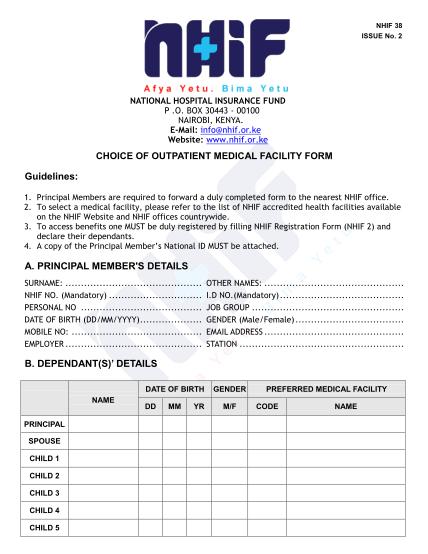 nhif-registration-application