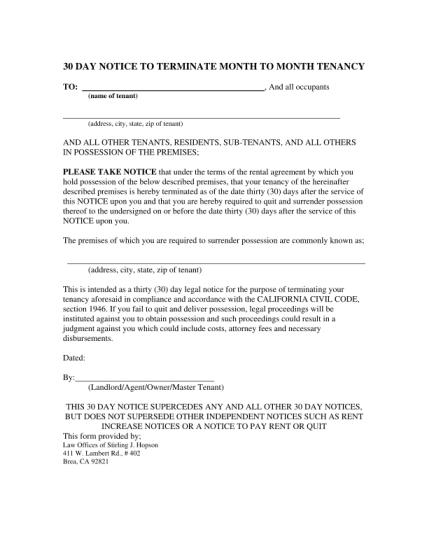 notice-of-termination-of-tenancy