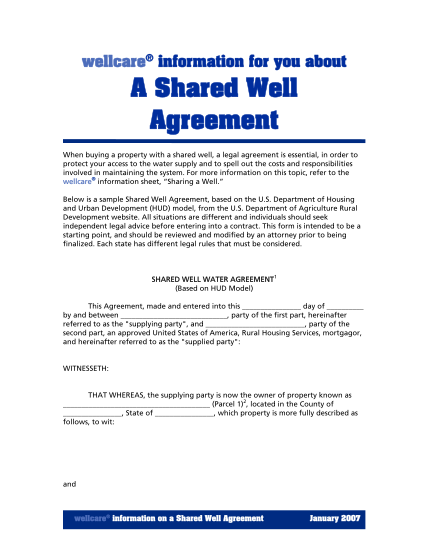 shared-well-agreement-form