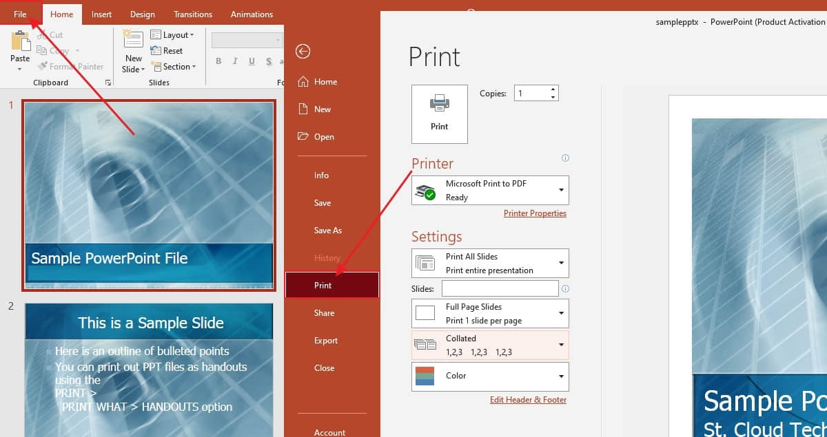 PPT TO PDF offline